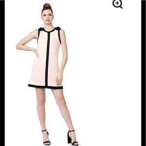 Betsey Johnson sleeveless lined  blush/black,NWT
